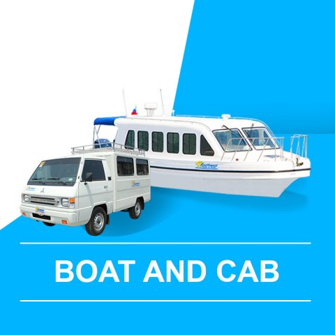 Boat and Cab (Caticlan Arrival) - Drop-off D'mall Station