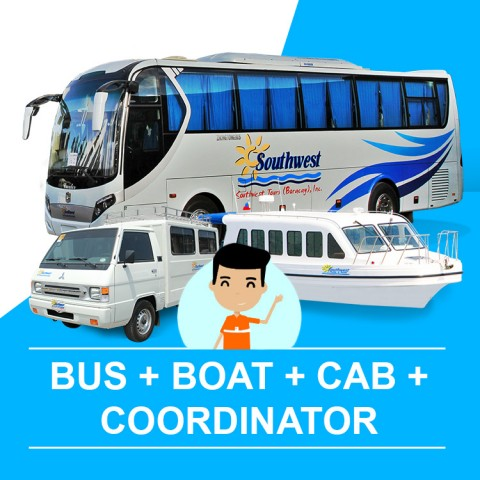 Bus, Boat, Cab and Coordinator Assistance to Hotel (Kalibo Arrival - Caticlan Departure)