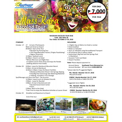 Masskara Bacolod Tour 2018