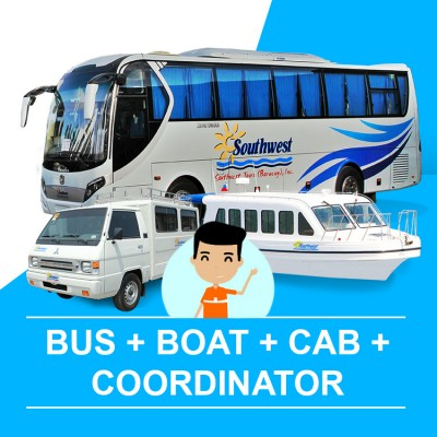 Bus, Boat, Cab and Coordinator Assistance to Hotel (Catcilan Arrival - Caticlan Departure)